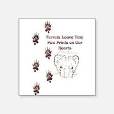 Tiny Paw Prints w/ Face(Stone) Sticker (Rectangula