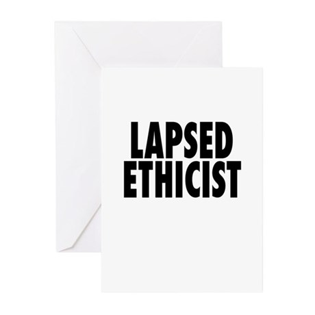 Lapsed Ethicist Greeting Cards (Pk of 10)