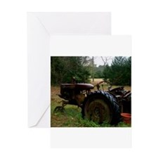 Rusted Antique Tractor Greeting Cards