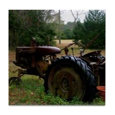 Rusted Antique Tractor Tile Coaster