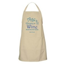 Age And Glasses Of Wine Apron