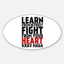 Learn from the street Krav Maga (red heart) Sticke