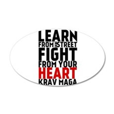Learn from the street Krav Maga (red heart) Wall D