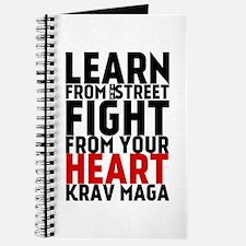 Learn from the street Krav Maga (red heart) Journa