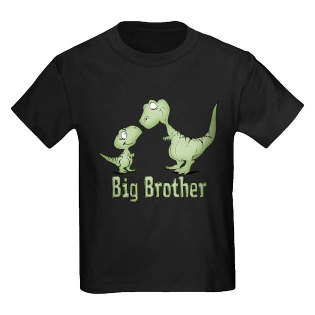 Dinosaurs big brother t by kewlkids for Big brother shirts for toddlers carters