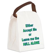 Accept or leave alone Canvas Lunch Bag