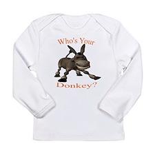 Cute Donkeys mules Long Sleeve Infant T-Shirt