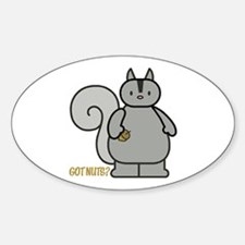 Got Nuts? Squirrel Oval Decal