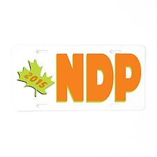 NDP Big Aluminum License Plate
