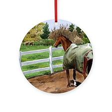 Horse Scene Ornament (Round)
