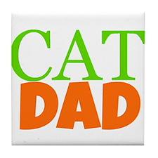 Cat Dad Tile Coaster