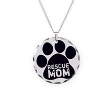 Rescue Mom Necklace Circle Charm