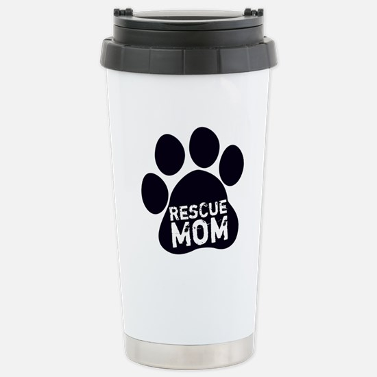Rescue Mom Stainless Steel Travel Mug