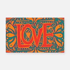 Summer Love Rectangle Car Magnet
