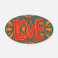 Summer Love Oval Car Magnet
