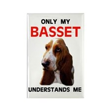 MY BASSET Rectangle Magnet