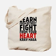 Learn from the street Krav Maga (red heart) Tote B