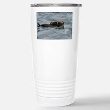 sea otter and baby Travel Mug