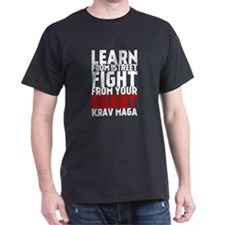 Learn from the street Krav Maga (red heart) T-Shir