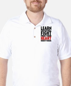Learn from the street Krav Maga (red heart) T-Shirt