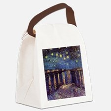 Starry Night over the Rhone. Vint Canvas Lunch Bag