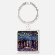 Starry Night over the Rhone. Vinta Square Keychain