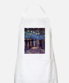 Starry Night over the Rhone. Vintage fine ar Apron
