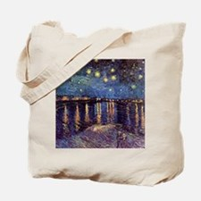 Starry Night over the Rhone. Vintage fine Tote Bag