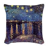 Van gogh starry night Woven Pillows