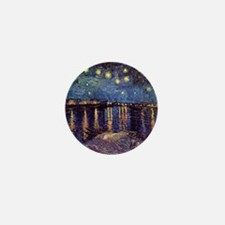 Starry Night over the Rhone. Vintage f Mini Button