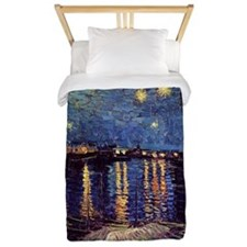 Starry Night over the Rhone. Vintage fi Twin Duvet