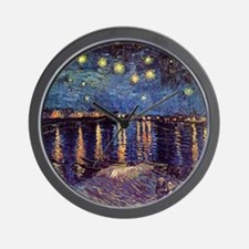 Starry Night over the Rhone. Vintage fi Wall Clock