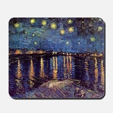 Starry Night over the Rhone. Vintage fin Mousepad