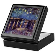 Starry Night over the Rhone. Vintage  Keepsake Box