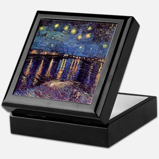 Starry Night over the Rhone. Vintage  Keepsake Box