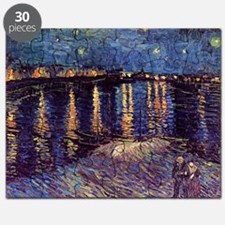 Starry Night over the Rhone, Vincent van Go Puzzle