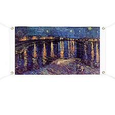 Starry Night over the Rhone, Vincent van Go Banner