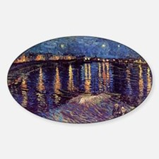 Starry Night over the Rhone, Vincen Sticker (Oval)