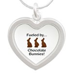 Fuel Chocolate Bunnies Silver Heart Necklace