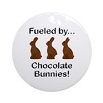 Fuel Chocolate Bunnies Ornament (Round)