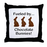 Fuel Chocolate Bunnies Throw Pillow
