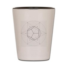 Dodecahedron star geometry Shot Glass