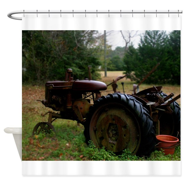 Tractor Shower Curtain : Rusted antique tractor shower curtain by charminglydixie