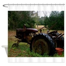 Rusted Antique Tractor Shower Curtain