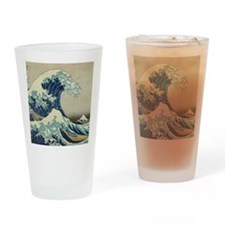 Great Wave off Kanagawa, Japanese a Drinking Glass