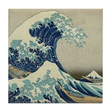 Great Wave off Kanagawa, Japanese art Tile Coaster