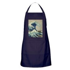 Great Wave off Kanagawa, Japanese art Apron (dark)