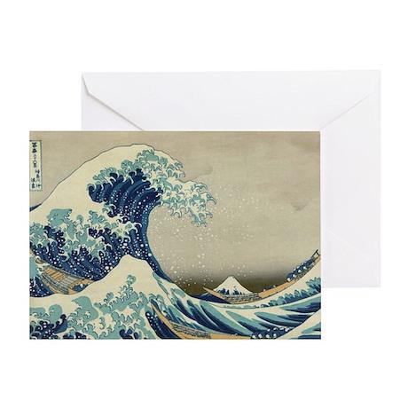 Great Wave off Kanagawa, vintage Jap Greeting Card