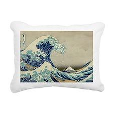 Great Wave off Kanagawa, Rectangular Canvas Pillow