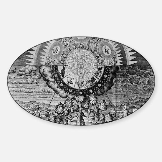 Alchemy Micro/Macro-Cosmos Sticker (Oval)